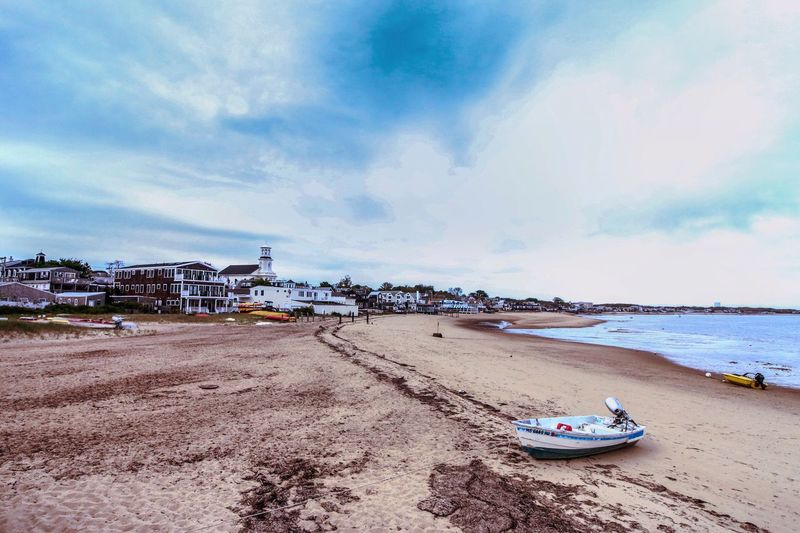 Sky Beach Cloud - Sky Sea Water Outdoors Day Nautical Vessel Sand Architecture Nature Horizon Over Water Beauty In Nature Scenics Provincetown  Massachusetts USA USAtrip Canon Canonphotography Travel Destinations Tranquility Peaceful Travel