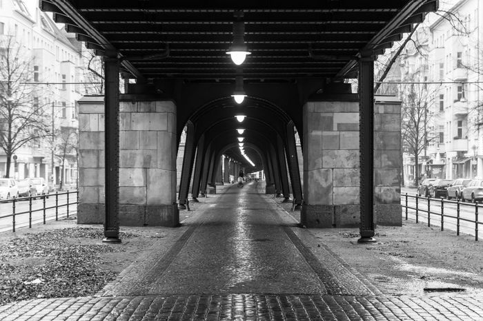 Arch Architectural Column Architecture B&w Berlin Photography Berliner Ansichten Black And White Built Structure Day Illuminated In A Row Indoors  No People Prenzlauer Berg The Way Forward Urban Urban Exploration Viaduct Viadukt