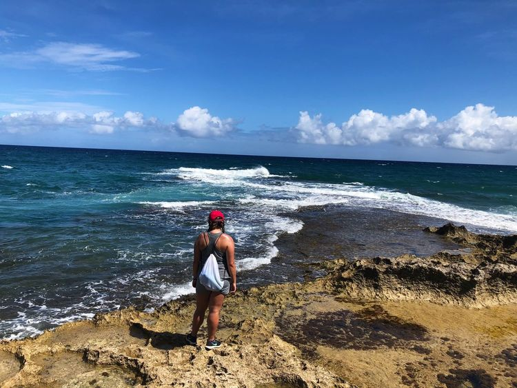Ka'ena point EyeEmNewHere Hike Hiking Marine College HPU Hawaii Pacific Hawaii Oahu Ocean Sea Water Beach Real People Sky Beauty In Nature Lifestyles Land One Person Leisure Activity Scenics - Nature Nature Horizon Over Water Horizon Day Sunlight Standing Outdoors
