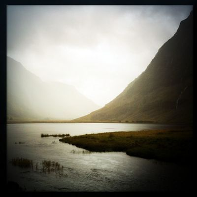 Pictures from Glencoe Valley (Hipstamatic) V Glencoe Scotland Square Beauty In Nature Hipstamatic Landscape Lawoe Mountain Nature No People Outdoors River Scenery Sky Tranquility Water