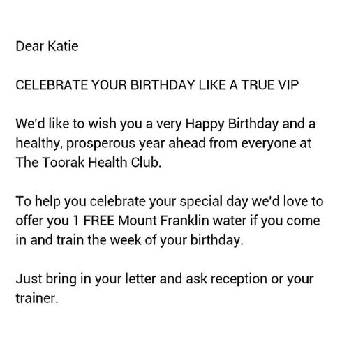 My gym is so generous.. I feel like a true VIP for sure... Tightarse Iwasexpectingtiffanys