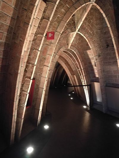 Barcelona, Spain Gaudì Architecture Work La Pedrera, Casa Milá On Sale My Best Photo City Corridor Arch Architecture Built Structure Historic Tunnel History Colonnade Architectural Column Civilization Passage The Past