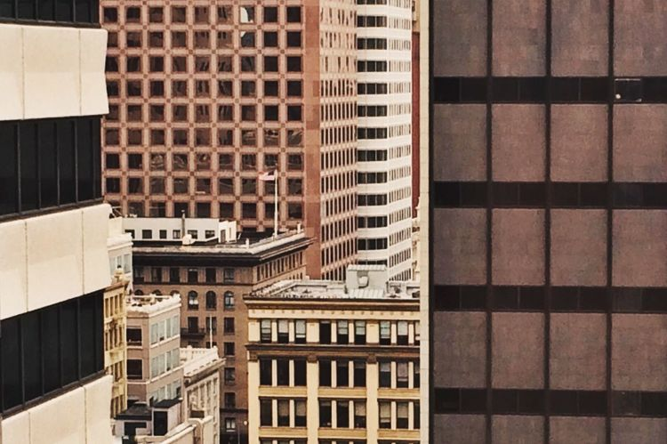 Architecture Building Exterior City No People Outdoors Day Embrace Urban Life Pattern Texture Windows San Francisco Brown Nuetralcolors Urban Geometry Urban Landscape