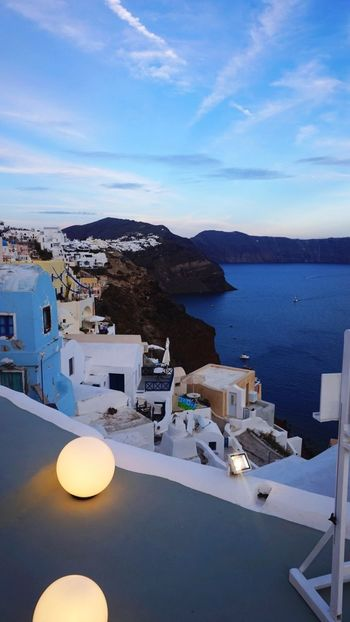 Scenics High Angle View Mountain island Water Miles Miles Miles Sky Blue House