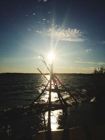 POV Of Dee Nature Lake Huron Landscape_Collection Summertime Northern Ontario Sunshine Sunburst Edge Of The World