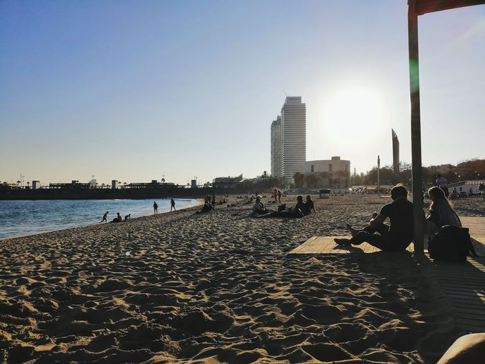 Barceloneta A New Beginning City Cityscape Water Urban Skyline Skyscraper Beach Politics And Government Modern Sea Sunset Pebble Beach Low Tide Calm Horizon Over Water Waterfront Wave Ocean Shore Lakeshore Tower Office Building The Great Outdoors - 2019 EyeEm Awards