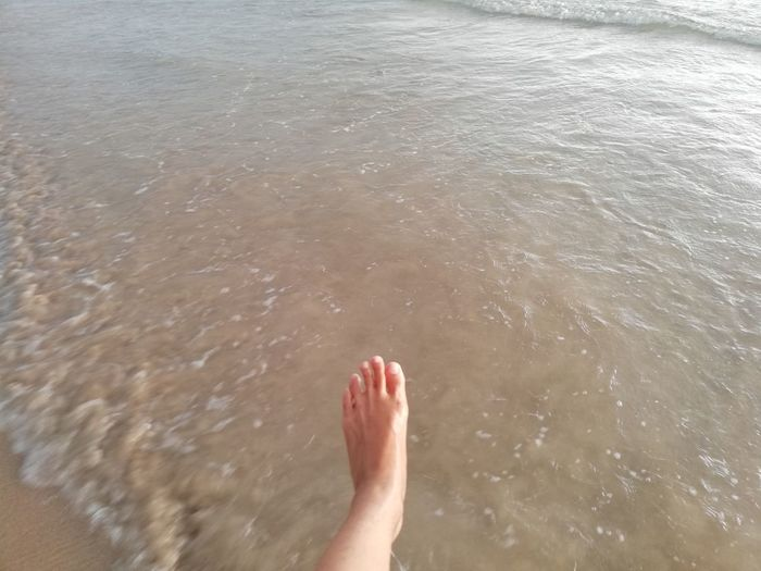 Children enjoy on summer trip 2019,หาดเจ้าหลาว Water Human Body Part Body Part Real People Leisure Activity Lifestyles One Person barefoot Sea Human Leg High Angle View Day Low Section Nature Unrecognizable Person Land Beach Sand Outdoors Human Foot Human Limb