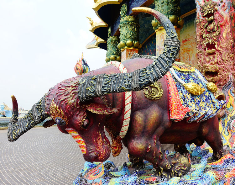 Animals Artistic Sculptures Beautiful Beliefs Buffalo Close-up Religious Architecture Religious Art Religious Place Thailand