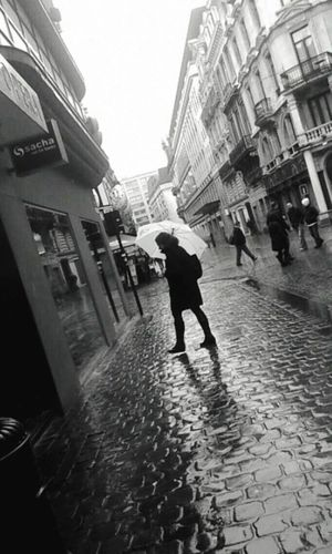 Rainy Day Rain Umbrella Brussels