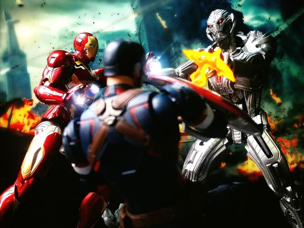 Avengers: Age of Ultron Action Figures Marvel Toy Photography Revoltech Ultron Toys BANDAI Tamashiinations Shf Sh Figuarts Captain America Iron Man