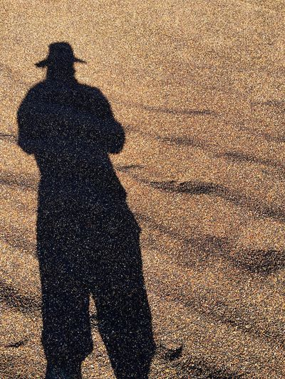 Shadow Focus On Shadow Sunlight Real People Lifestyles High Angle View Long Shadow - Shadow Leisure Activity Day Outdoors One Person Men Black Rice
