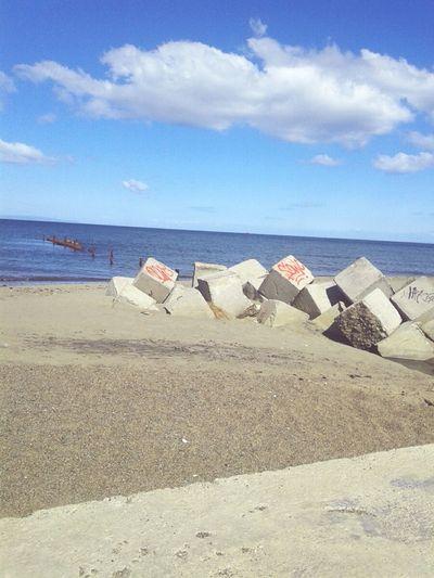 Cubos Playa Cielo Y Nubes  Mar