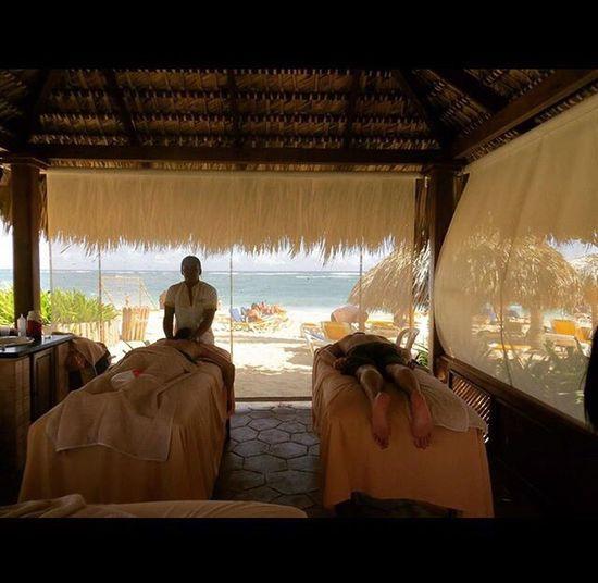 Beach massage outside Tropical Vacation Resort