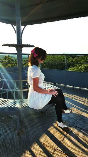 Maggie viewing the battlefield. Enjoying The Sun Relaxing