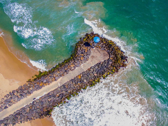Beach Life Pier Aerial View Beachphotography Beauty In Nature Day Dji Jetty View Nature Outdoors Sand Sea Summer Water Waves