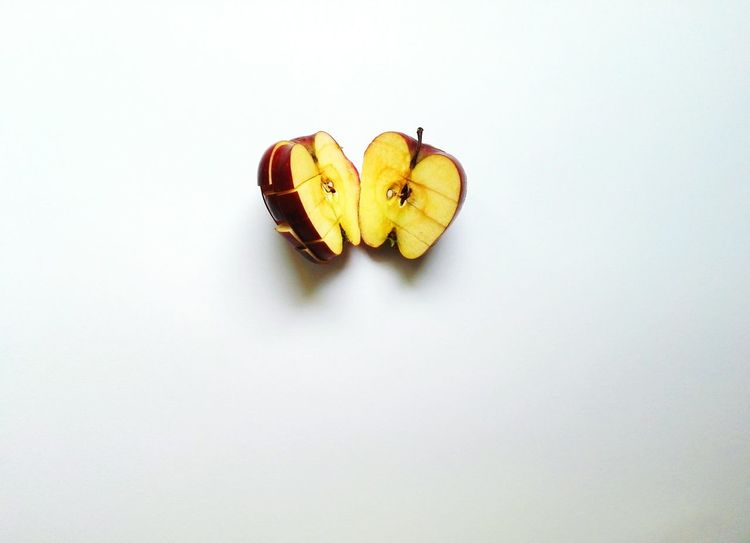 EyeEm Selects No People Insect Close-up Apple Fruit Apple White Background Indoors  Studio Shot Symbolism Sommergefühle