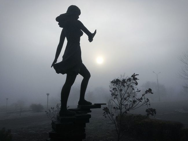 A Statue Silhouette Fog One Man Only One Person Standing Full Length EyeEmNewHere