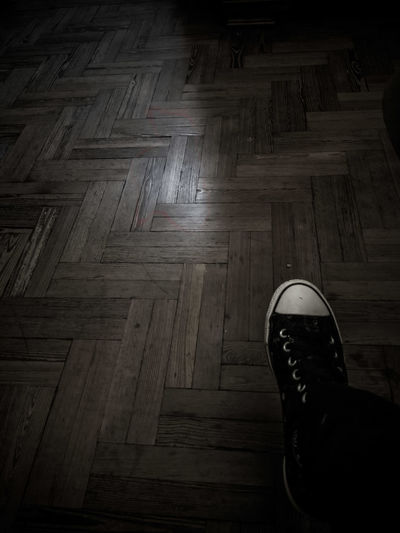 What lies ahead Shoe Hardwood Floor Conceptual Photography  Black And White Friday Eyeem Photography Blackandwhite Photography Bnw Monochrome Shadows & Lights Shadowplay Existential  Be. Ready.