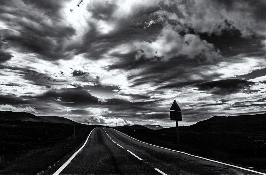 Assynt Beauty In Nature Cloud - Sky Landscape Nature Road Scotland Scottish Highlands Sky