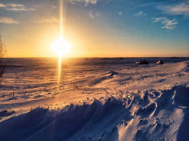 Sun Winter Snow Sky Cloud - Sky Yamal ЯМАЛ Yanao Russia Салехард Northern Territory The Peoples Of The North