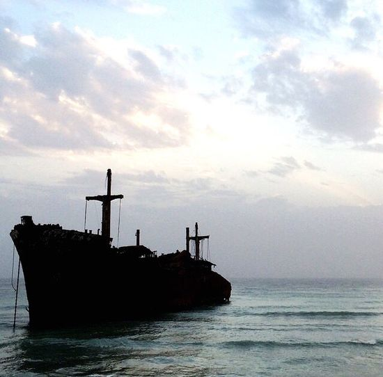 Wow!!😋 Ships⚓️⛵️🚢 Shipwreck Greek Ship Kish Island Iran An Evening Sea And Sky Seascape God God's Beauty Showcase June Color Of Life