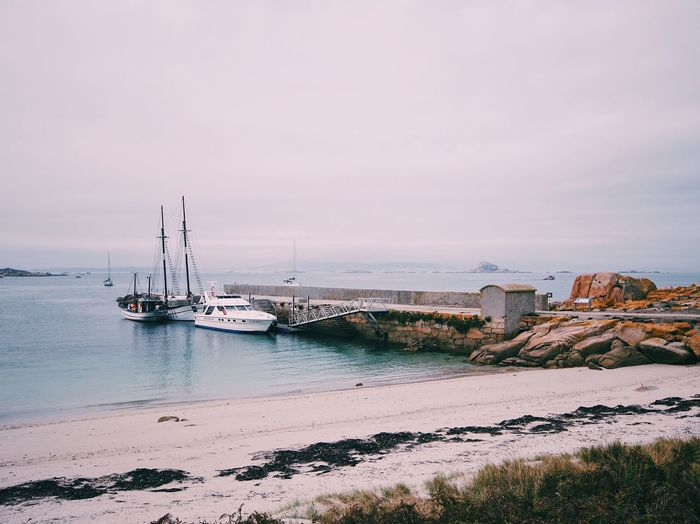 SPAIN Galicia Water Sea Nature Nautical Vessel Rock - Object Horizon Over Water Scenics No People Beach Beauty In Nature Tranquility Transportation Tranquil Scene Outdoors Day Sand Sky