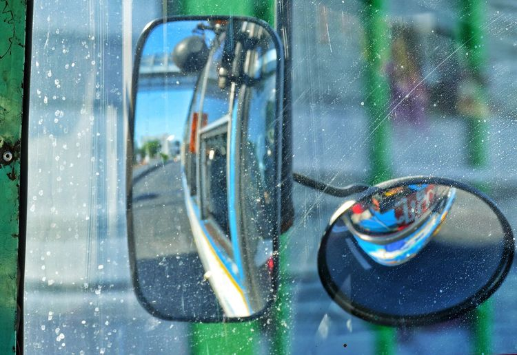 Close-Up Of Side-View Mirrors