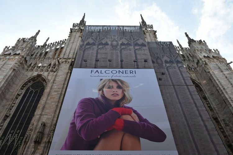 Duomo Di Milano City Warm Clothing Blond Hair Politics And Government Young Women Portrait Females Sky Architecture Building Exterior Capture Tomorrow