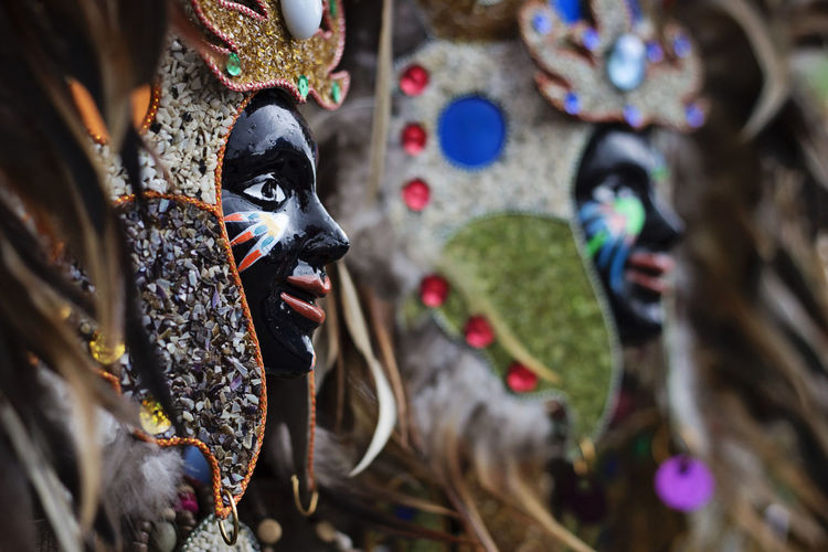 Close-up of people wearing masks in carnival