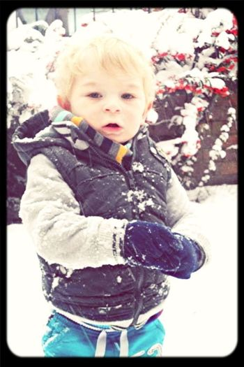 My beautiful baby in the snow xxx