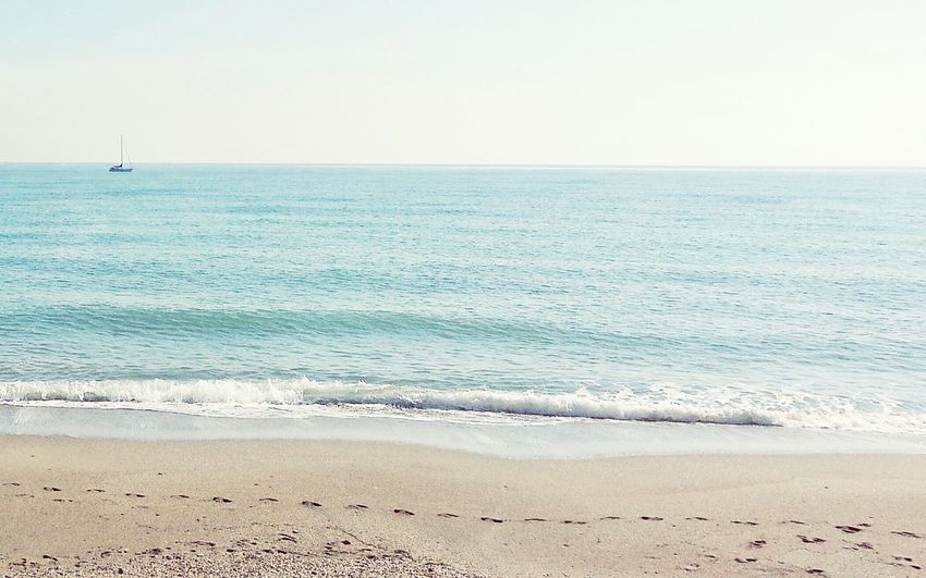 When in trouble go there Sea Beach Horizon Over Water Sand Outdoors Nature Water Sky Beauty In Nature Scenics Day No People Wave Relaxing Tranquil Scene Nature Beachphotography Calm Tranquility Ocean Shore Summertime Coastline Minimalism Perspective