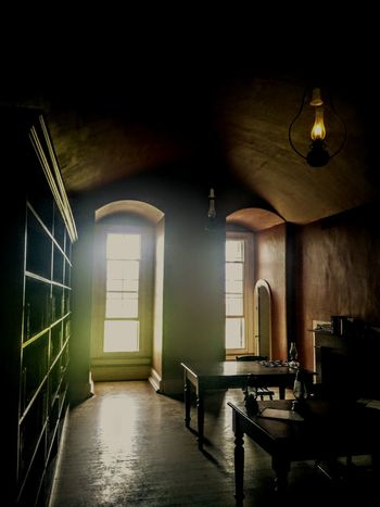 Old Buildings Old Room  Old Fort Darkness And Light Oil Lamp