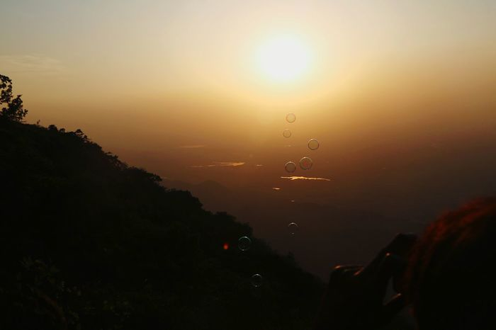 Sun Sunset No People Outdoors Sky Silhouette Nature Scenics Beauty In Nature Mountain Bubbles Bubbles... Bubbles...Bubbles.... Mount Abu Mount Abu Rajasthan , India Mount Abu Rajasthan, India MOUNT ABU SUNSET EyeEmNewHere
