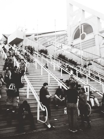 The Street Photographer - 2015 EyeEm Awards Sdcc San Diego Convention Center Stairways Shades Of Grey