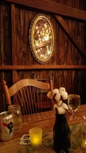 Simplicity Is Beauty. Simplicity Simple Elegance Jack's Barn Barn Composition Mirror Reflection Reflections Mirror Reflection Table Table Composition Evening Dinner Composite