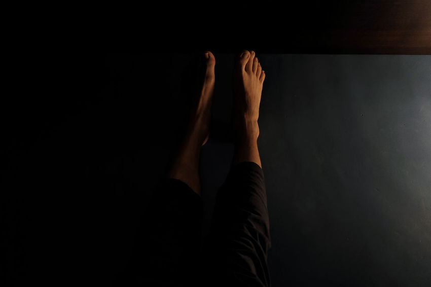 Feet - Adult Barefoot Close-up Human Body Part Human Leg Indoors  Low Section One Person People