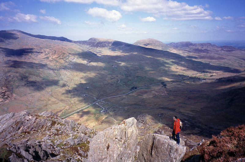taking in the mountain view, snowdonia national park, UK Adventure Britain Climb Climber Clouds Hill Landscape Mountain Mountain Range Mountaineering Mountains North Wales Outdoors Sky Snodonia Snowdonia Uk View Wales Walker