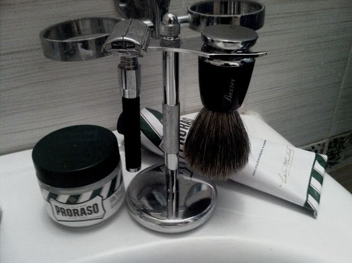Some of my Shaving stuff. Parker , Proraso , BaxterofCalifornia