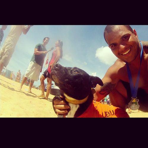 Travessia João Moreno 1km, com Ubu o cão nadador Relaxing