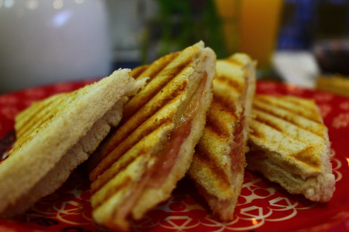 Breackfast Cheese Sandwiches Close-up Fast Food Food Freshness Indoors  No People Ready-to-eat Sandwich Sandwiches Tea Time Toasted Bread Toasted Sandwich Unhealthy Eating