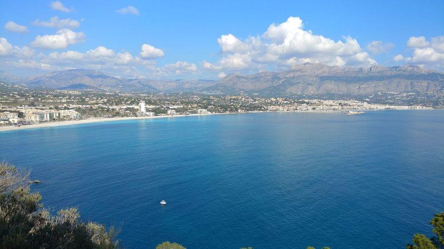 high angle Albir Alicante, Spain SPAIN Blue Sea Tranquility Landscape Sky Nature Outdoors