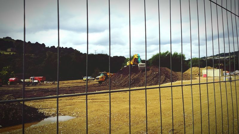 Protecting Where We Play Sand Diggers Newbuild Developing Workmen Landscape Countryside Copley Yorkshire