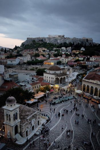 GREECE ♥♥ View From Above View Architecture Building Exterior Built Structure City Sky Building Cityscape High Angle View Travel Destinations TOWNSCAPE Dusk