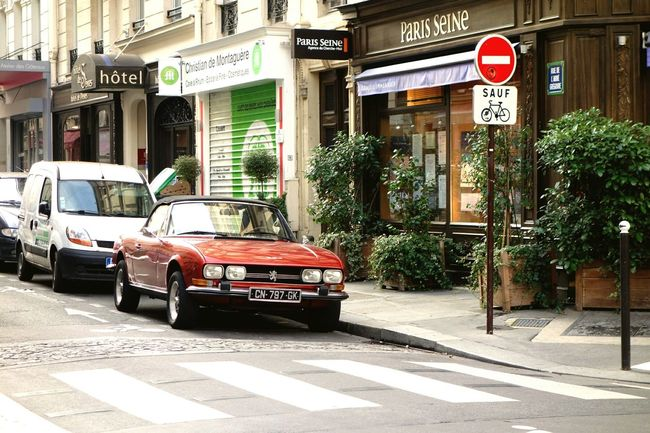 paris Paris Car Red Peugeot