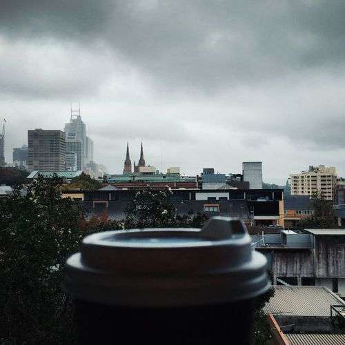 Coffee closeup and city view Architecture Australia City Cityscape How Do We Build The World? Closeup Cloud - Sky Cloudy Day Coffee Coffee Break Coffee Time Coffee To Go ;) Coffee ☕ Cup Disposable Cup Espresso Latte Mocha Modern Perspective Plastic Cup Sky Take Away View Weather