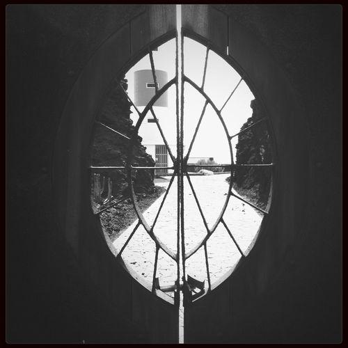 acceso cerrado al faro Ligthouse Faros Door Blackandwhite
