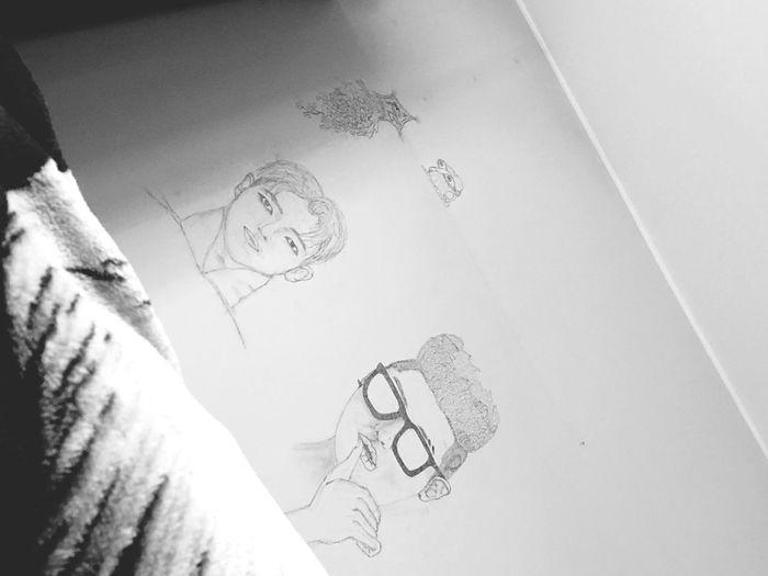 Mood Bnw Photography Gray Blacklover Blackandwhite Bts Art BTS Rap Monster RM RM Room Wall  Wall Art No People Day