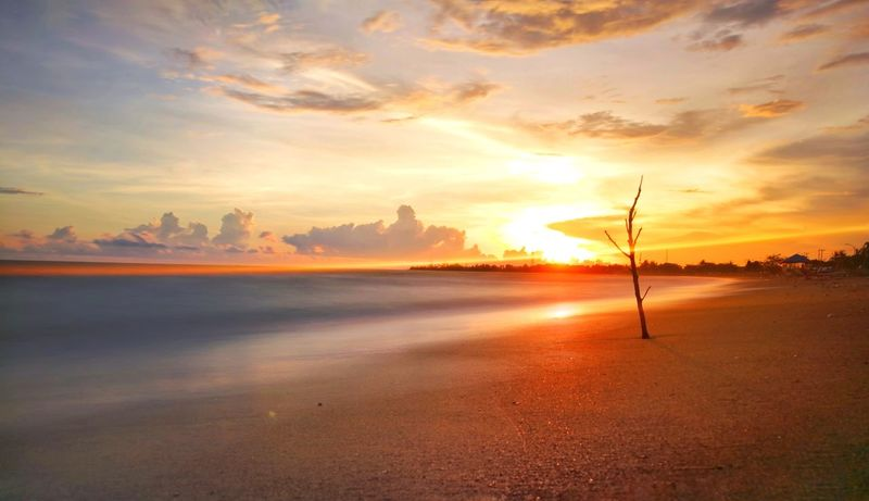 senja.. Eye Em Selects Sunset Beach Sea Sand Tranquility Scenics No People Landscape Sky Beauty In Nature