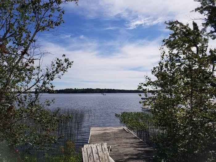 Dock Lake Lake Vermilion Fishing Trees Relaxing Tranquility Lakeside Tower, MN Minnesota