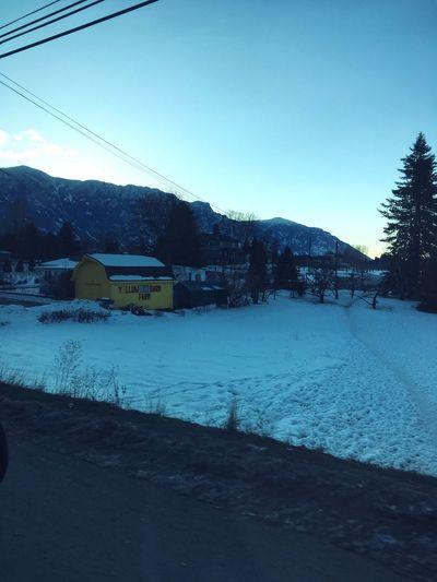 Winter House Outdoors Mountain Mountain View Snow Roadtrip EyeEmNewHere